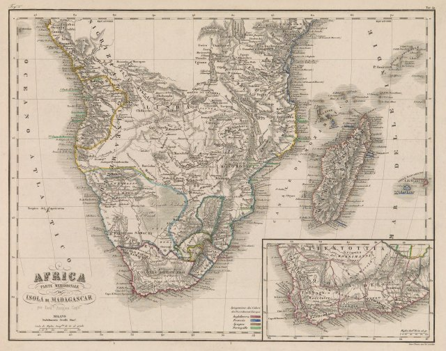 Africa Parte Meridionale ed Isola di Madagascar - Ferdinando Arrigoni