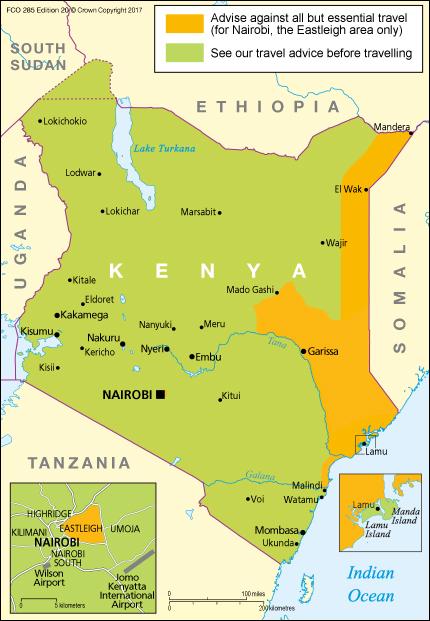 Collegare siti a Nairobi